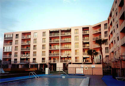 Vacation Rental Condo in Indian Rocks Beach, Florida, 5 Miles South of Clearwater Beach, West of Tampa Bay - From beach, we are on the right