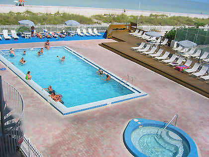 Vacation Rental Condo in Indian Rocks Beach, Florida, 5 Miles South of Clearwater Beach, West of Tampa Bay - Hot Tub, Pool View from Balcony